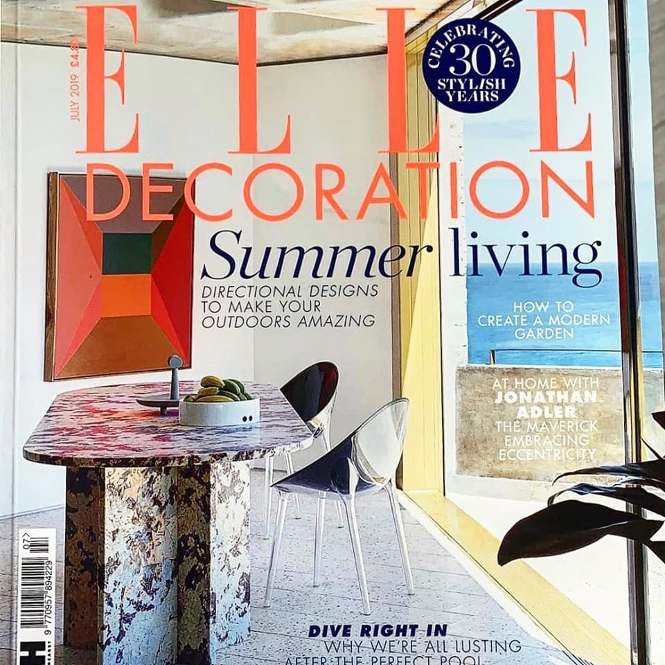 Elle Decor Cover July 2019 Ilkley