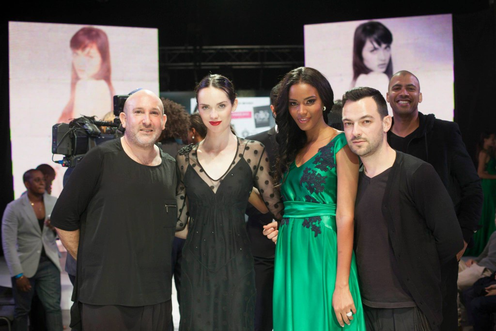 Malcolm Kluk,  Elite Model Look winner, Bianca Rentzke, Miss Universe 2011 and Christiaan Gabriel Du Toit
