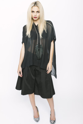 Black Chiffon Marissa Shirt
