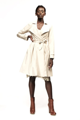 Beige Gugu Trench Coat