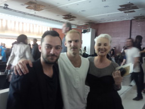 Christiaan with Rising Star Nicholas Coutts and ELLE Editor Jackie Burger