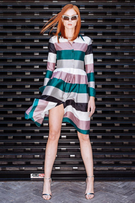 Striped Shirt Dress1
