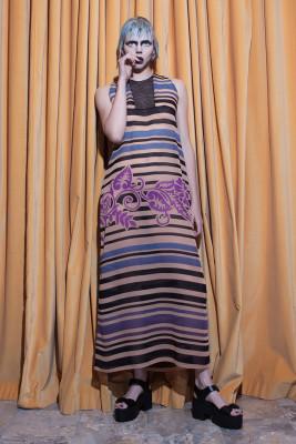Inset Inge LONG Dress Front