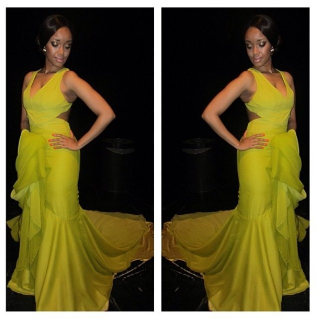 Dineo in Citrine dress