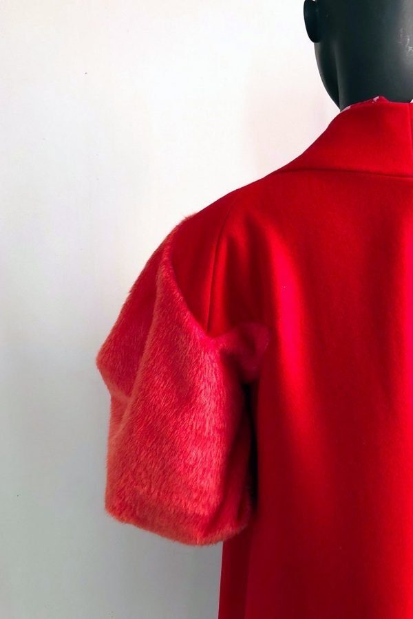 30s Coat Dress, Malene Shirt and Casual Pants Close up