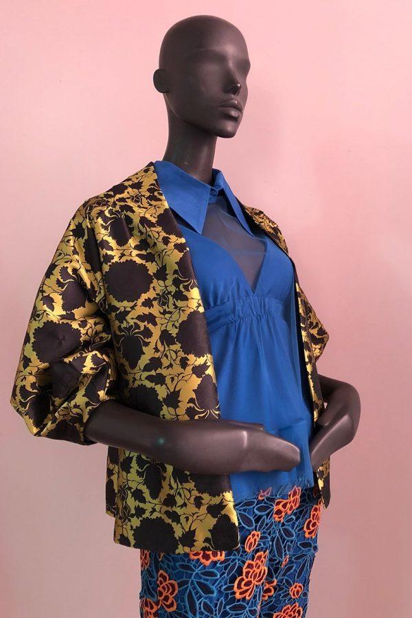 30s Shacket, Amsterdam Shirt, Casual Pants Close up