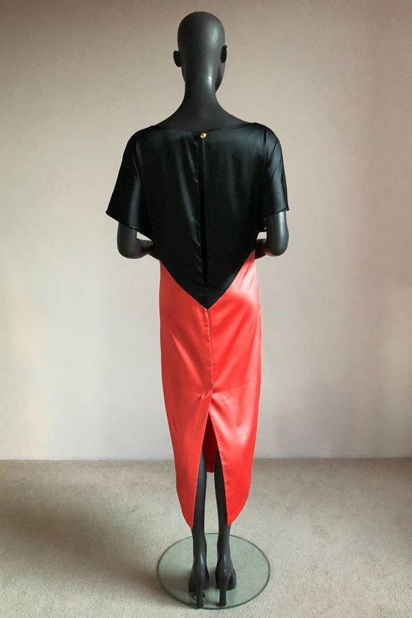 80s Dress Back