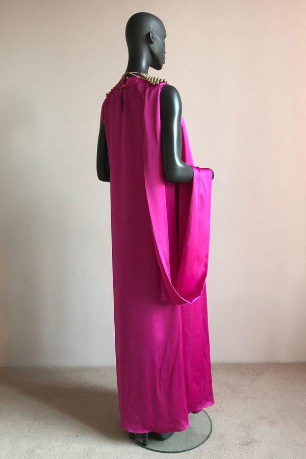 Angel Dress & Beaded African Neck Piece Back Side