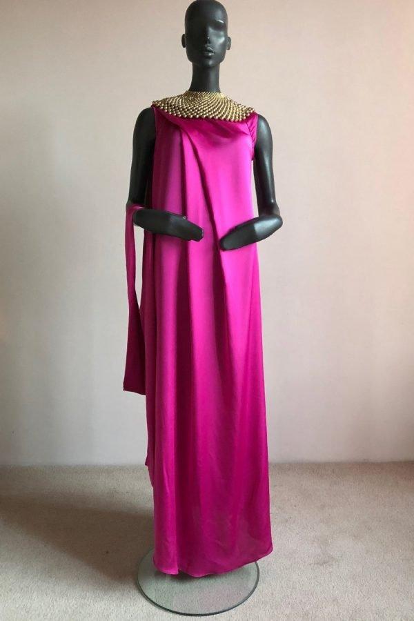Angel Dress & Beaded African Neck Piece Front