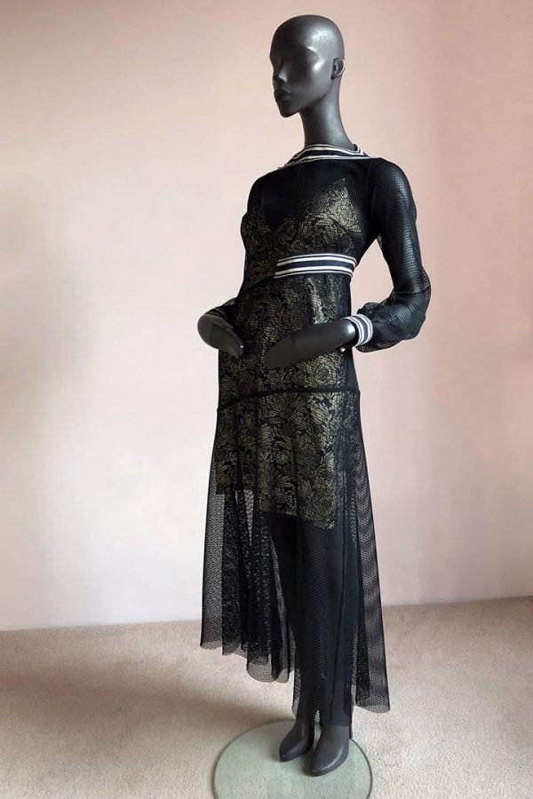 Cynthia Dress with Side Bow Slip