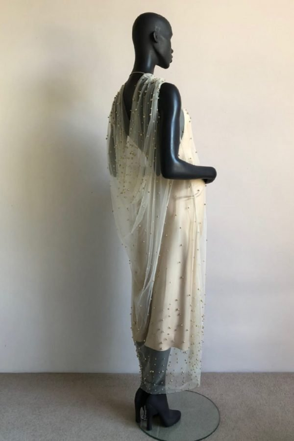 DRAPE GOWN AND BIAS SLIP