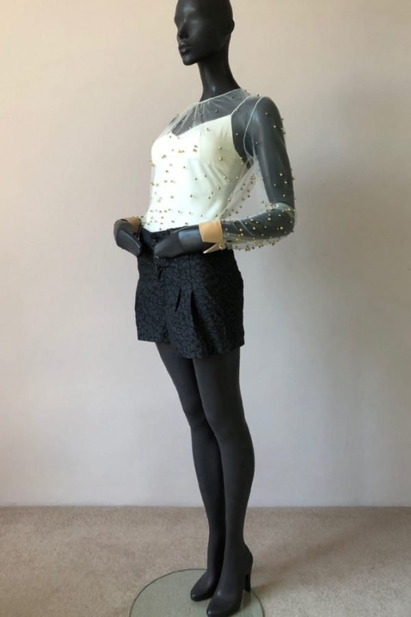 PLEATNECK TOP AND GISELLE SHORTS