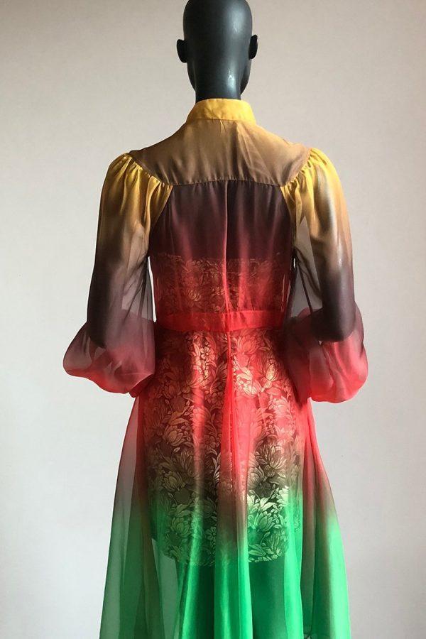 Pagoda Dress with Side Bow Slip Back