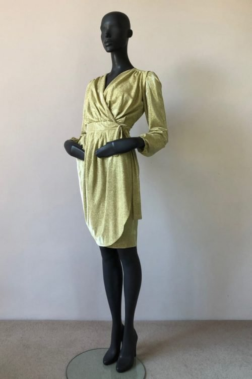 WRAP DRAPE DRESS