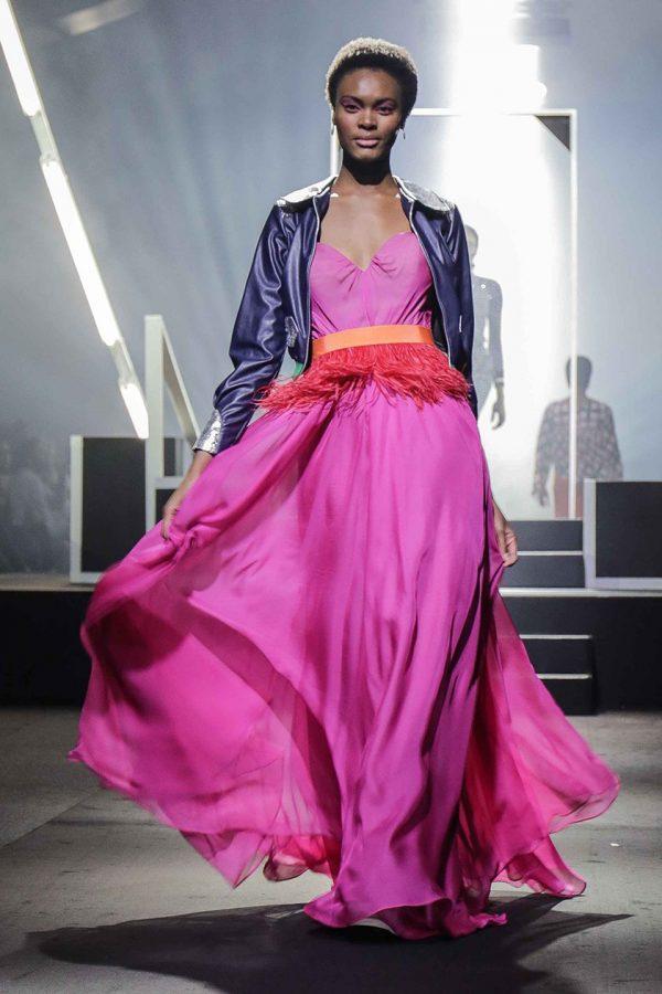 Zipper Jacket & Strapless Prom Dress 2