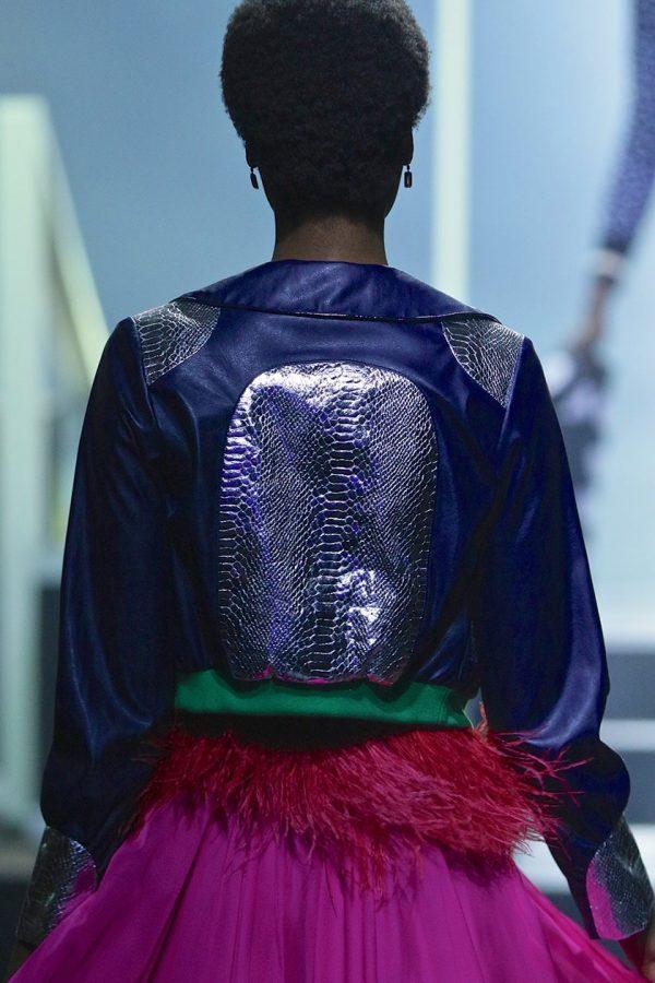 Zipper Jacket & Strapless Prom Dress 3