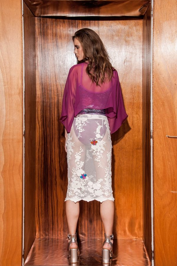 Ayanda Cape with Body Suit & Pencil Skirt 2