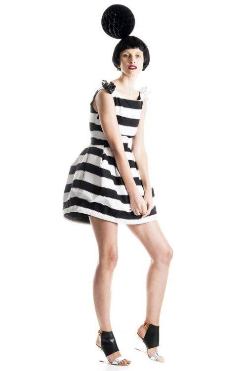 Boatneck Bell Dress 1