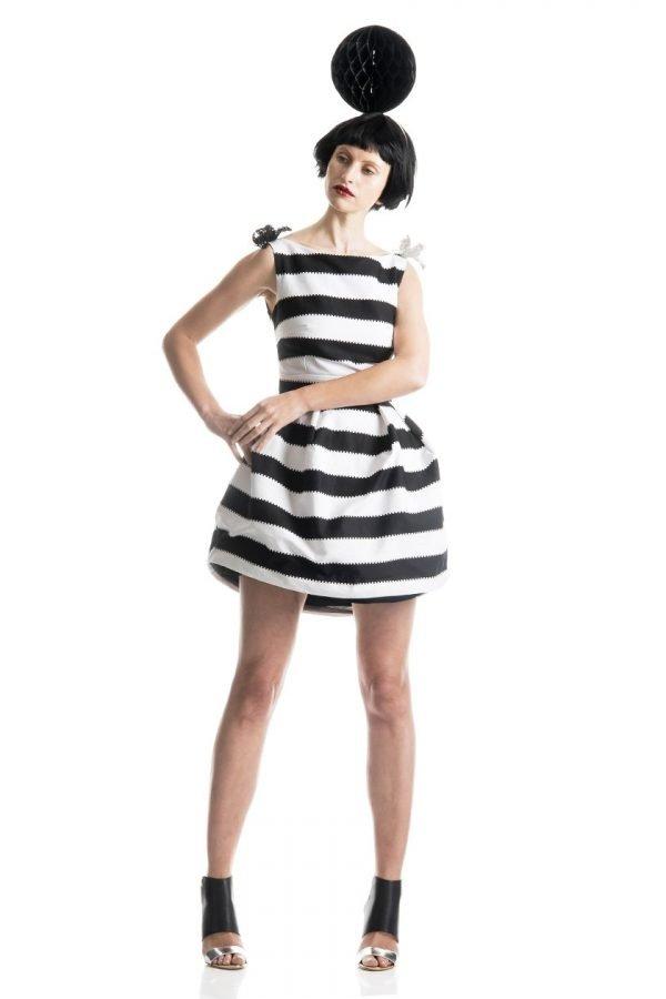 Boatneck Bell Dress 3