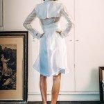 Trench Coat Dress over Basic Slip 2