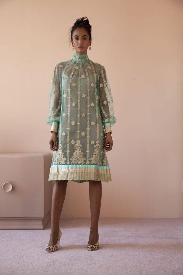 Poloneck Dress, nude slip dress_0615 EXTRA::43